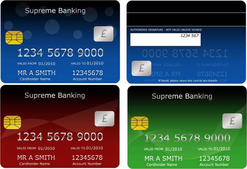 free vector Bank Cards