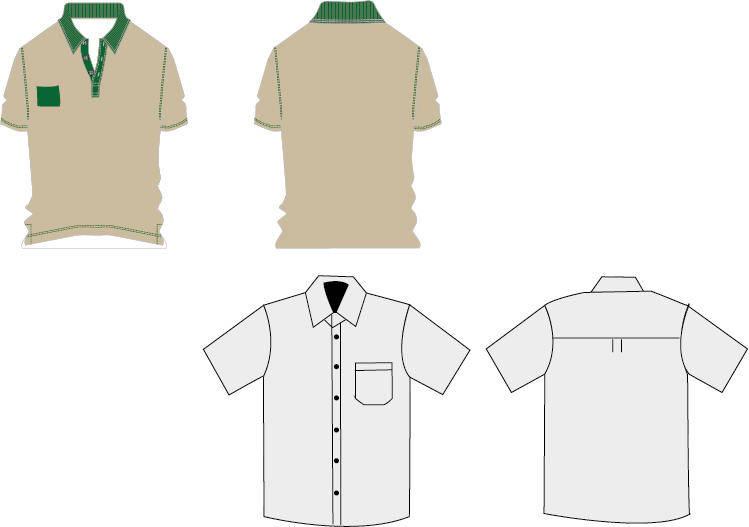 free vector T-shirt Work uniforms