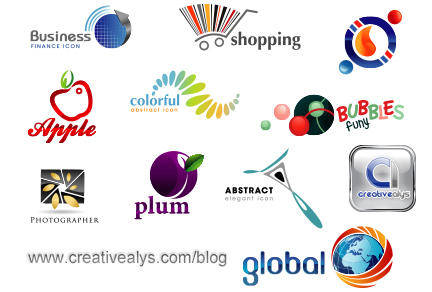 free vector Glossy Creative Logo Designs