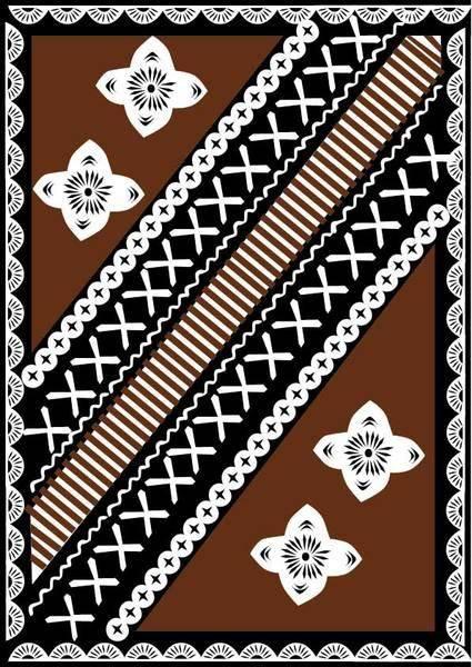 free vector Free Fijian Tapa Design Vector
