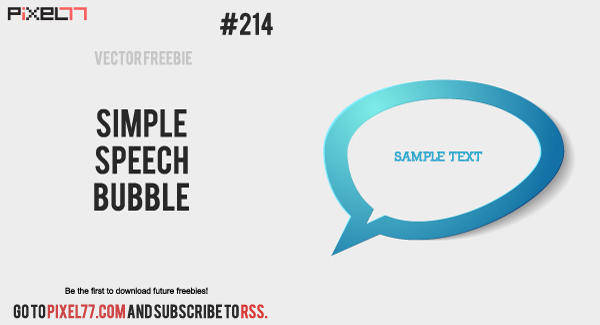 free vector Free Vector of the Day #214: Simple Chat Bubble