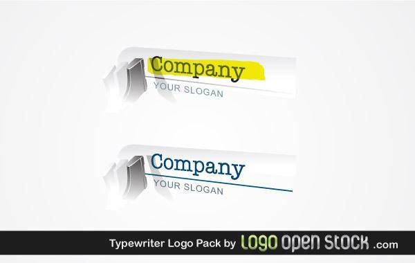 free vector Typewriter Logo Pack