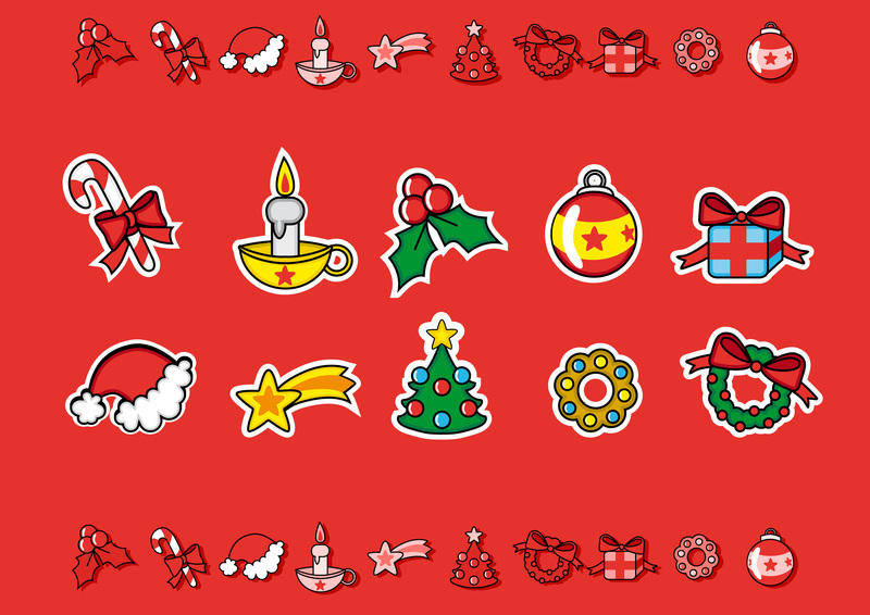 free vector Cute Christmas Candies