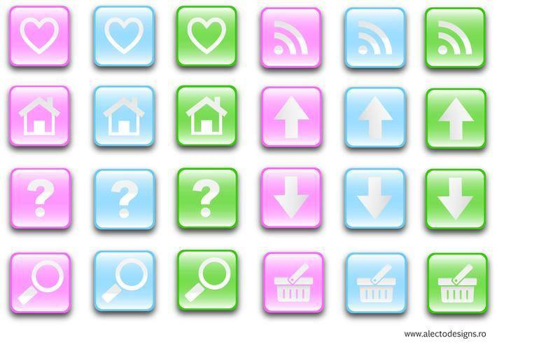 free vector Free Glass Effect Buttons Vectors