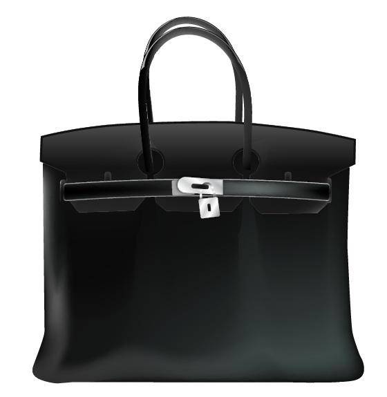 Birkin Bag Gradient Mesh Vector