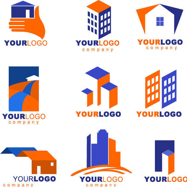 free vector Real Estate logos