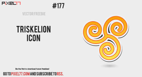Free Vector of the Day #177: Triskelion Icon