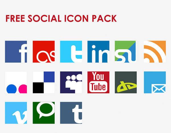 free vector Icon Vector Social Network Set