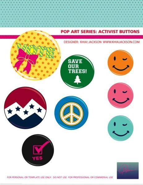 free vector Campaign Button Vectors