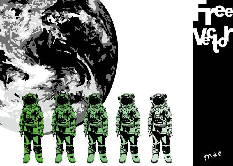 free vector Spacesuit Vector