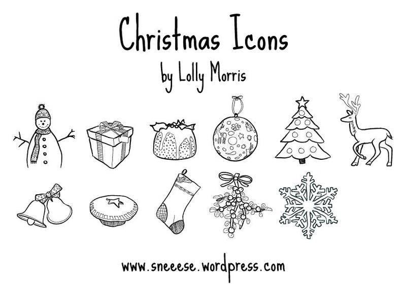 free vector Free Illustrated Christmas Vector Icons!!!