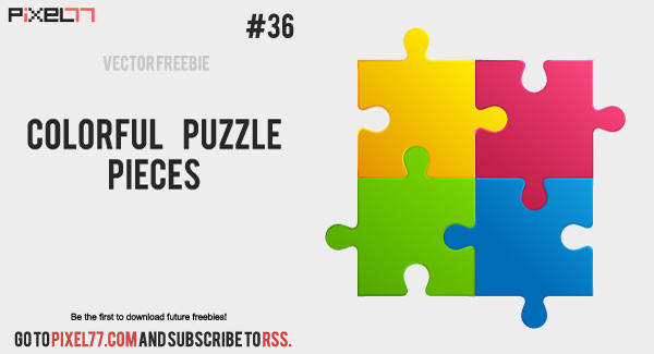 free vector Colorful puzzle pieces