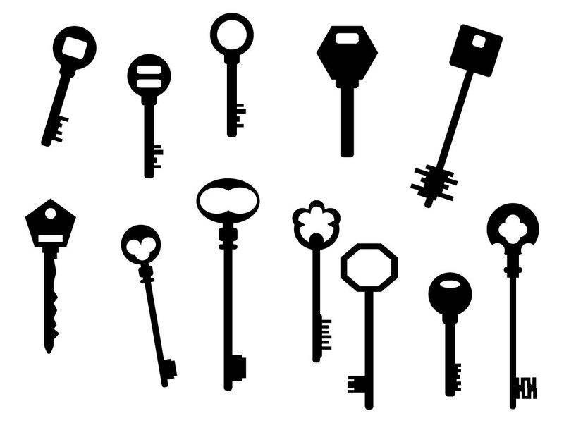 free vector Keys silhouette