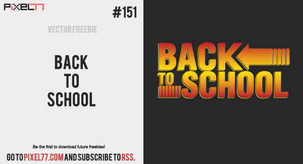 free vector Free Vector of the Day #151: Back to School Concept