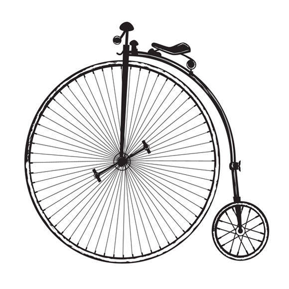 Old Fashioned Bicycle Vector