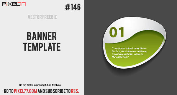 Free Vector of the Day #146: Banner Template