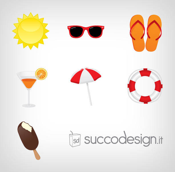 Free Summer Icon Vector Set