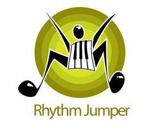 Rhythm Jumper Logo Vector