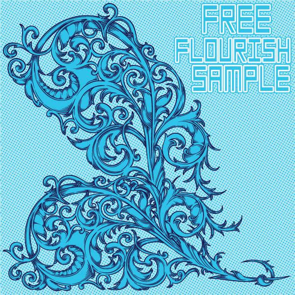 free vector Free Flourish Sample