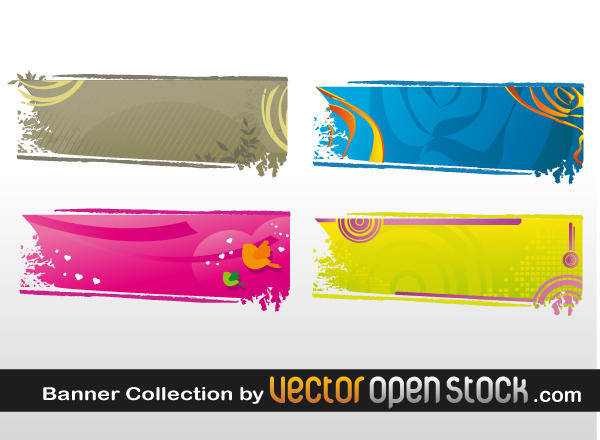 free vector Banner Collection
