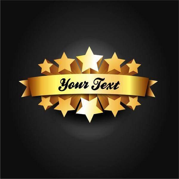 free vector Star Ribbon