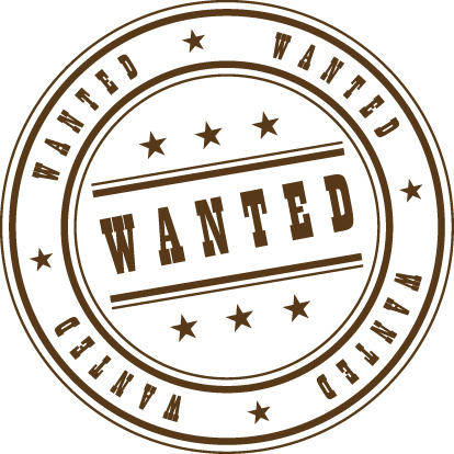 free vector Wanted Stamp