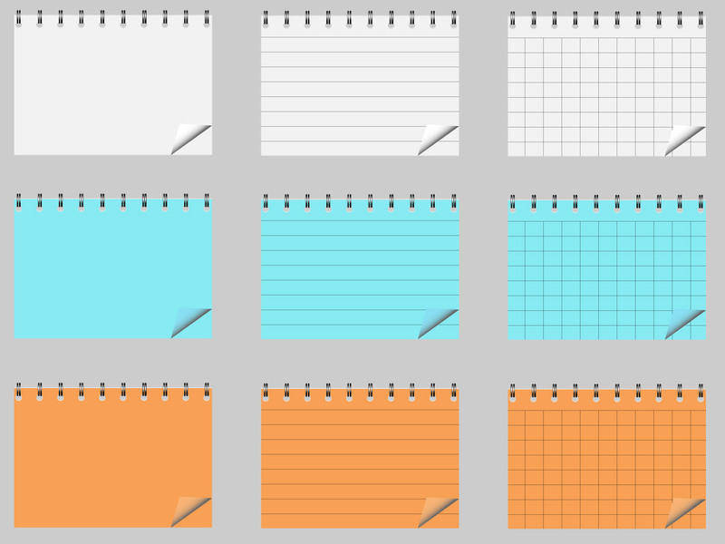 free vector Notepad Vector Pack