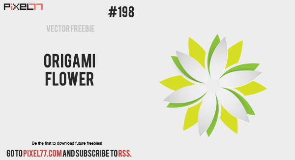 free vector Free Vector of the Day #198: Origami Flower