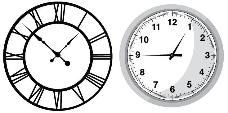 free vector Clocks Vectors