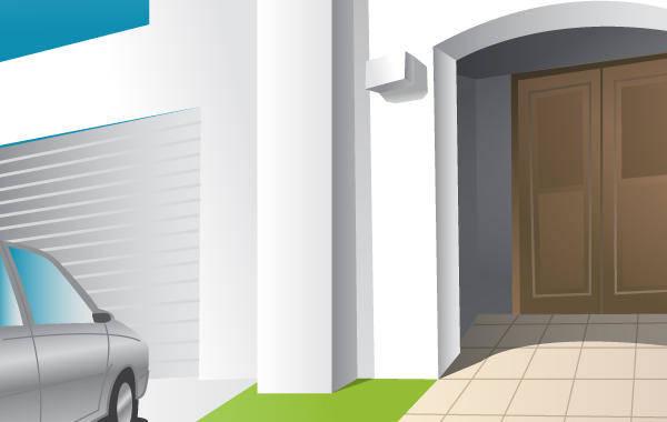 free vector House Entrance