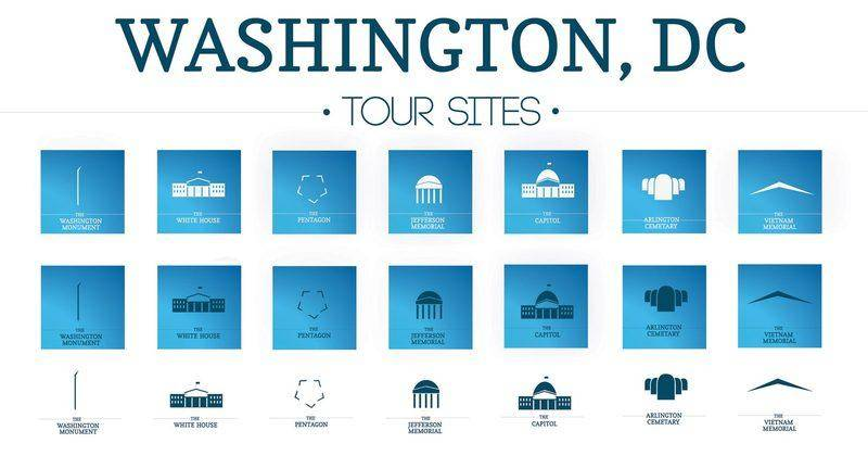 free vector Icons Vector Pack of Washington, DC