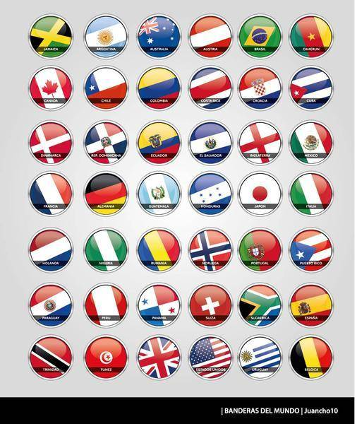 Flag Vectors of the World