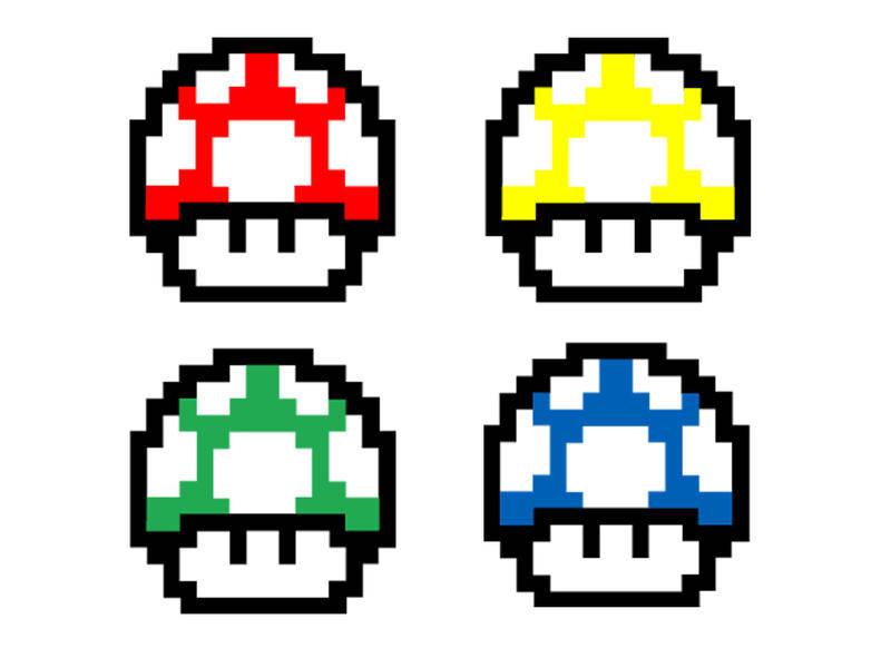Mario Mushroom Vector Pack