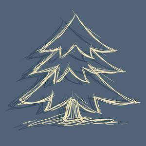 free vector Free Vector of the Day #217: Doodle Christmas Tree
