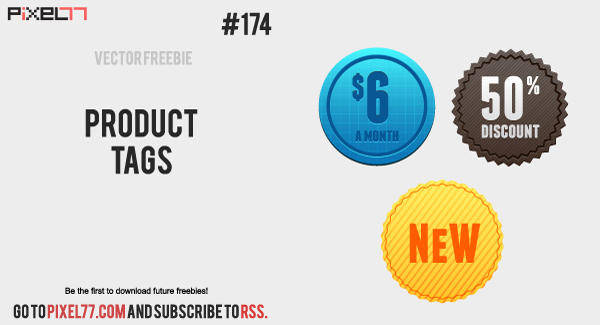 free vector Free Vector of the Day #174: Product Tags