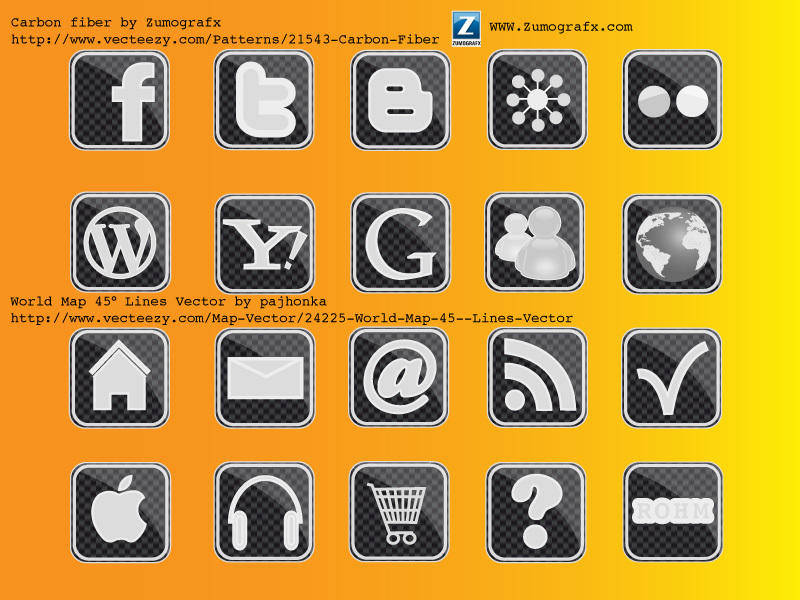 free vector Carbon Icons
