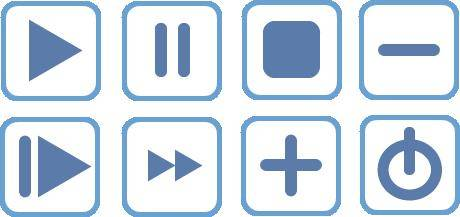 free vector Blue Vector Icons