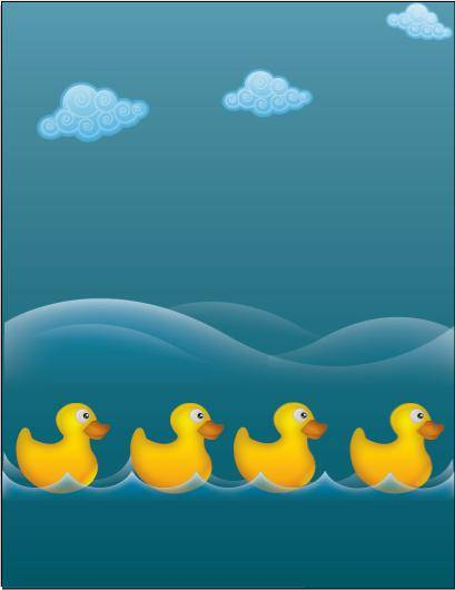 free vector Water ducks