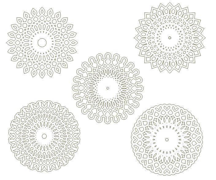 free vector Circular arabesques v1