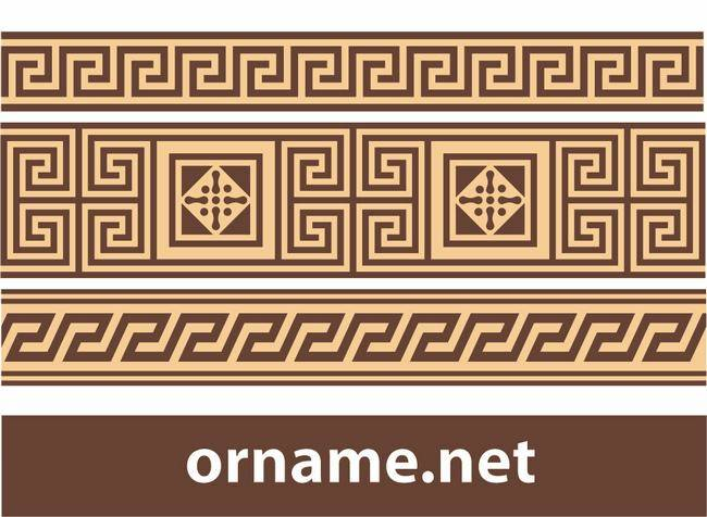Free Greek Vector Ornament â?? Meander Borders