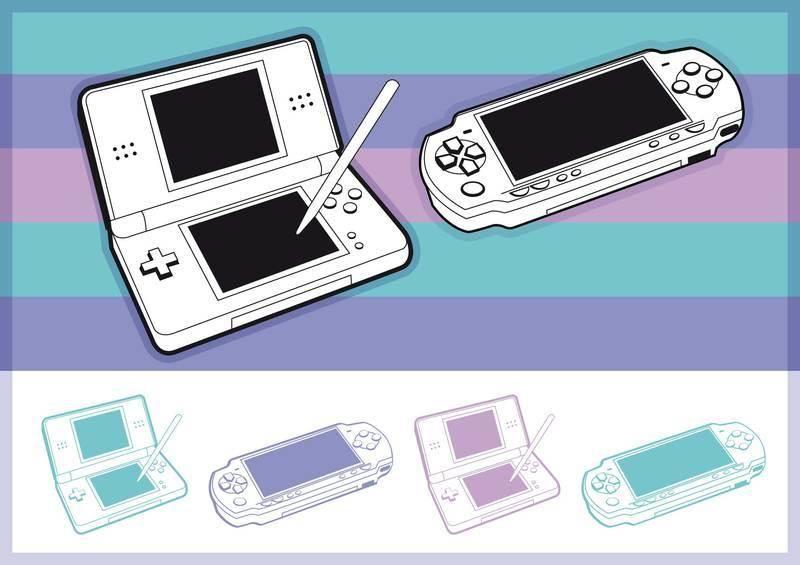 free vector Portable consoles