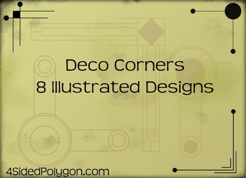 free vector Deco Corners Vectors