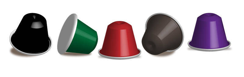Nespresso Capsules Vector for free
