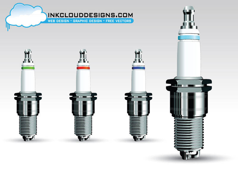 free vector Spark Plug Vector Pack
