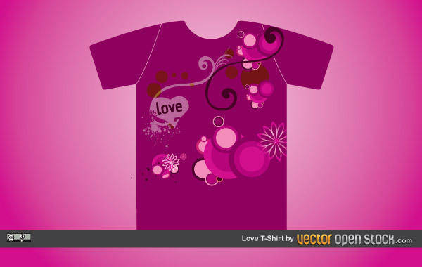 free vector Love T-shirt