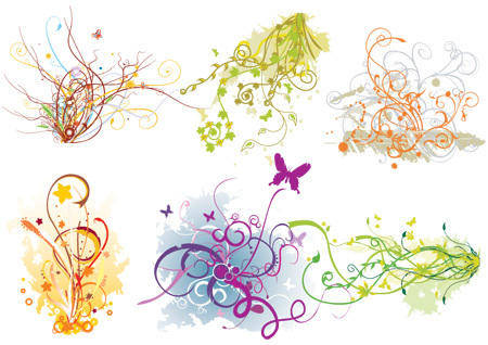 free vector Arabescos Swirl Flourish Vector