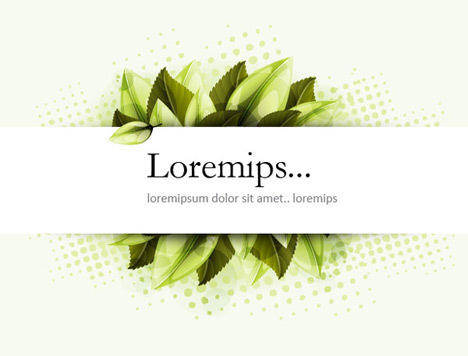 free vector Banner Vector with Greenery
