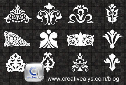 free vector Decorative Ornaments for logo, web and graphic design
