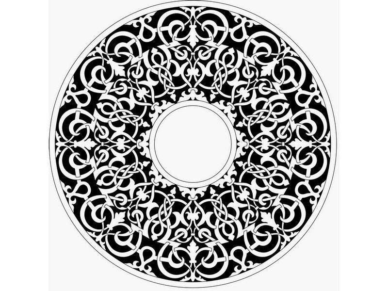 Moresque Centre Ornament Vector
