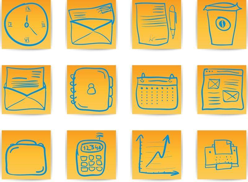 Office & Business hand draw icon
